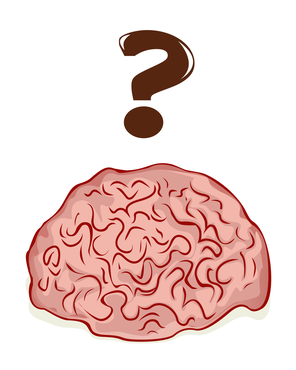 Brain and a question mark